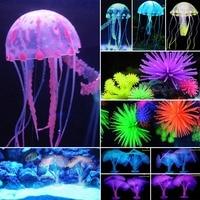 Wholesale Fish tank Landscaping Swimming Fish Artificial Jellyfish/Sea Horse/Lionfish/Coral Ornament Aquarium Fish Tank Decor