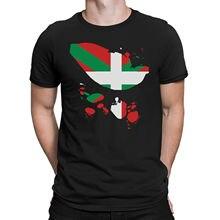 Basque Country Mens T-Shirt Ripped Shirt effect Espana Bilbao Spain Gift 100% Cotton Short Sleeve O-Neck Tops Tee Shirts все цены