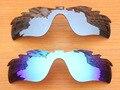 Серебро и Синий 2 Шт. Зеркало Поляризованных Вентилируемый Замену Линзы Для RadarLock Путь Солнцезащитные Очки Кадров 100% UVA и UVB Защиты