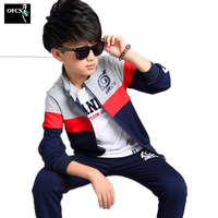 2017 New Autumn Children S Clothing Sets Kids Boy Zipper Clothes Set Child Sport Suits Big