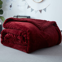 Flannel Wool Double Side Blanket Ultra Thick Ultra Fine Super Soft And Warm Throw Adult And