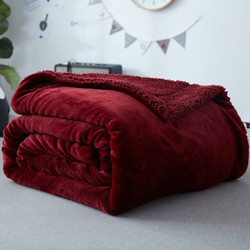 Flannel wool double side blanket ultra thick ultra fine super soft and warm throw adult and.jpg 250x250