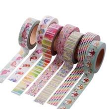 1X Cute Kawaii Plants Flowers Japanese Masking Washi Tape Decorative Adhesive Tape Decora Diy Scrapbooking Sticker Label Station цена и фото