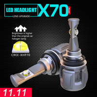 11.11 Activity 12v 120w 15600lm 6000k CR EE XHP70 LED car headlight h7 h4 h13 5202 9005 9006 9012 X70 H11 LED headlamp for car