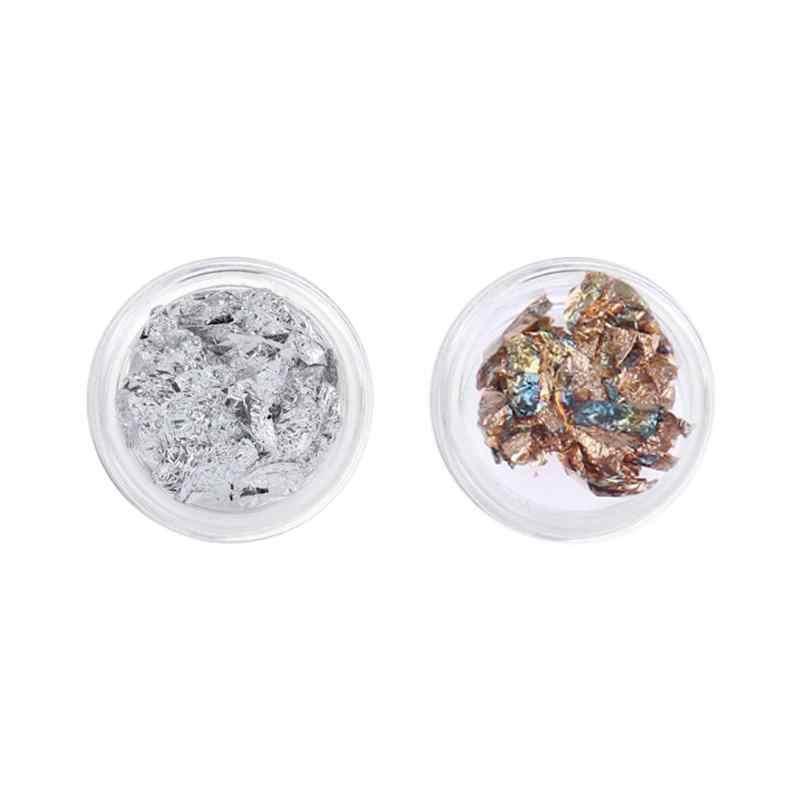 Glitter tinfoil unha arte adesivos uv gel de cristal manicure estanho folha decalques unhas desenhos arte do prego beleza decoração
