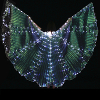 8 petals Colorful Led Isis Wings with Stick Belly Dance Accessory Stage Performance Props Club Belly Dance Light Up Show Costume