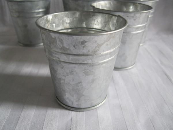 20Pcs / Lot D7XH7CM Silvery Metal Planter - Бақша өнімдері - фото 3