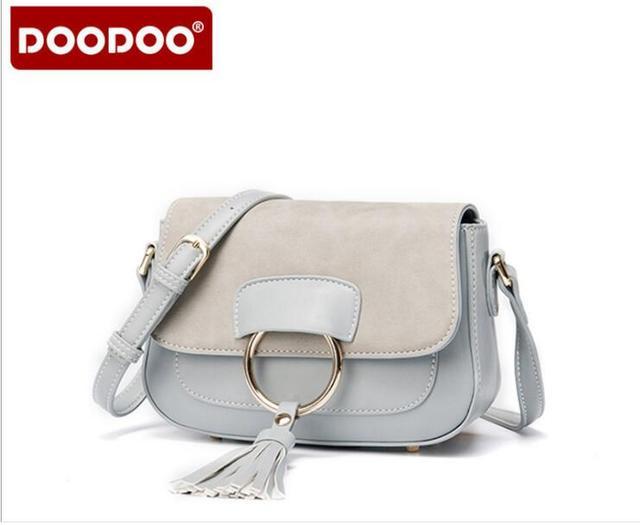 DOODOO Brand Luxury Handbags Women Messenger Bags Tassel Fashion Handbag Small Crossbody Bags for Women bolsos mujer FR390