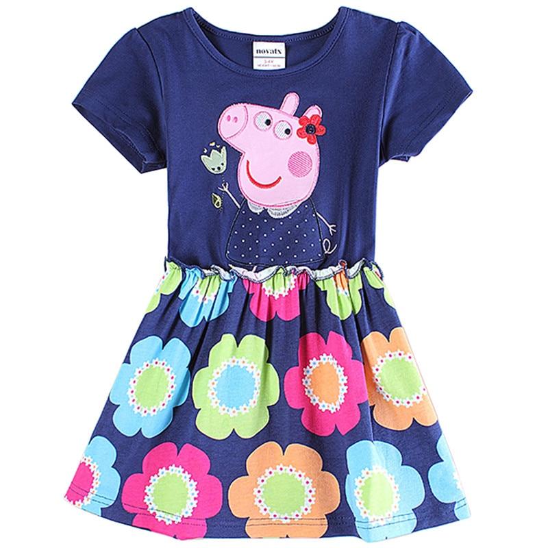 novatx kinderen meisje katoenen jurken met applique dieren zomer mode - Kinderkleding - Foto 4