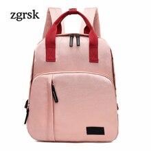 Fashion Woman Backpack Waterproof Nylon Soft Handle Solid Multi-pocket Travel Zipper Mochila Feminina School Bags Bagpack