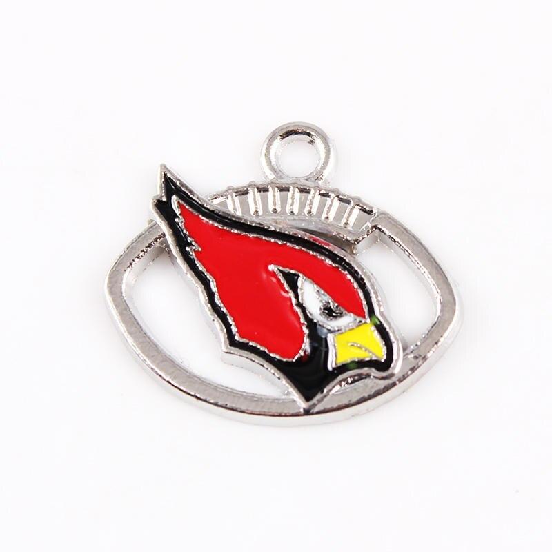 20pcs Arizona Cardinals Charms American Football Charms pendant DIY Necklace Pendant Jewelry Dangle Charms
