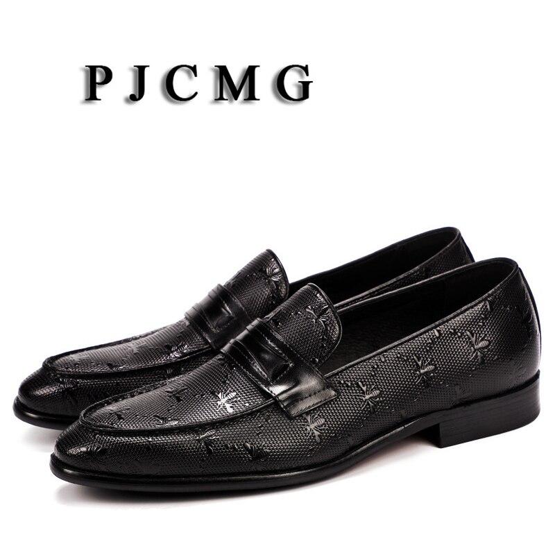 100% Wahr Pjcmg Oxford Schuhe Rot/schwarz Business Kleid Echtem Leder Spitz Slip-auf Hochzeit Casual Flache Patent Oxford Männer Schuhe Hohe QualitäT Und Geringer Aufwand