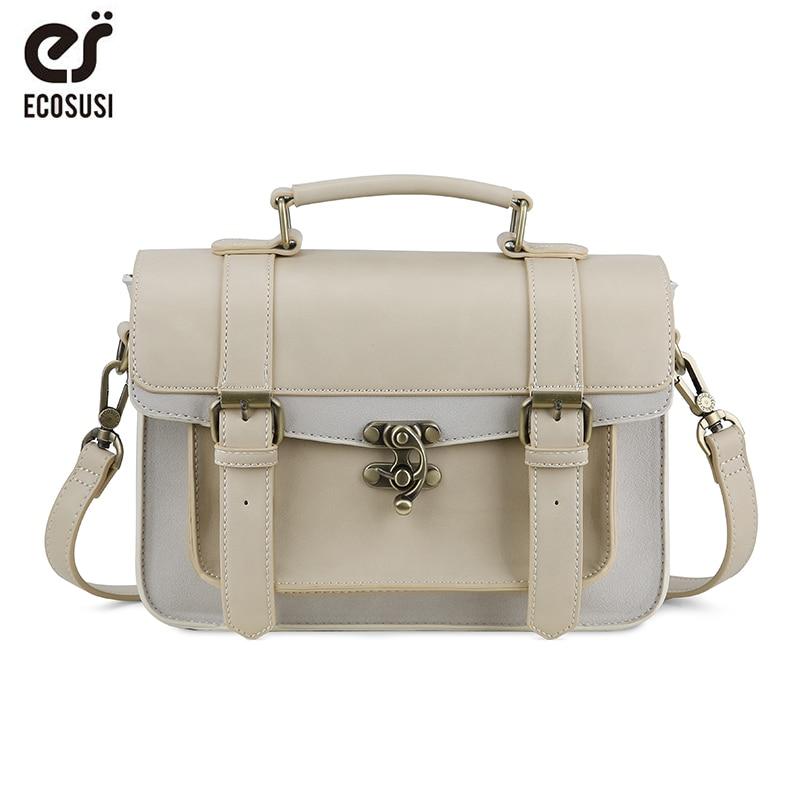 ECOSUSI New Adrette Frauen Aktentasche Klassische Mori Mädchen Frauen Ledertasche Handtaschen Freizeit Tragbare Frauen Messenger Bags