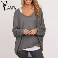 Women Blouse Casual Loose Batwing Long Sleeve Tops Shirts Sweater Jumper Pullovers Plus Size