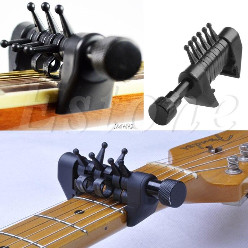 Multifunción 6 acorde capo afinación abierta araña acordes para acústica Guitarras cuerdas J24