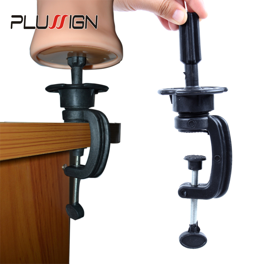 Common Size Practice Training Mannequin Head Holder Wig Head Stand Table Clamp Metal And Plastic Material 1 Piece