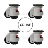 4PCS CD 40F Load Bearing 50kg Pcs Level Adjustment MC Nylon Wheel And Aluminum Pad Leveling