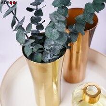 Modern Chic Hexagon Rose Gold Storage Jars Pencil Holder European Stainless Steel Floral Machine Flower Vase Metal Storage Jar