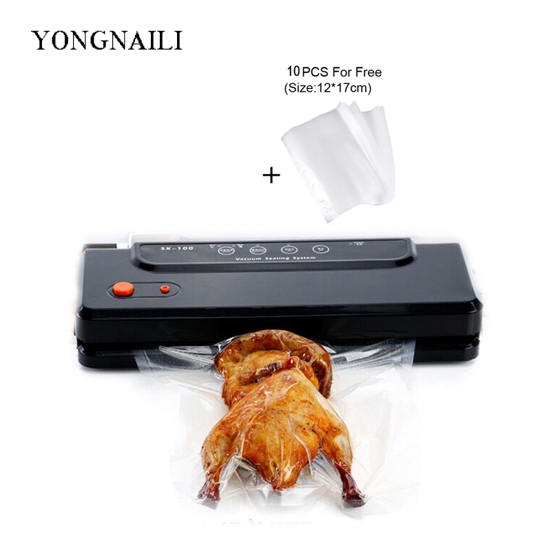 free shipping vacuum sealer machine for food saver seal packing packaging sealing household pack included 10pcs free bags шкаф tlk настенный 19 6u дверь перфор 600х303х350мм серый