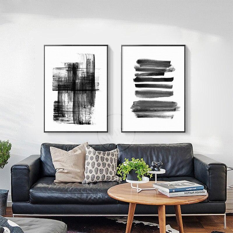 Noir Et Blanc Abstrait Baiser Peinture Décorative No Frame Ligne ...