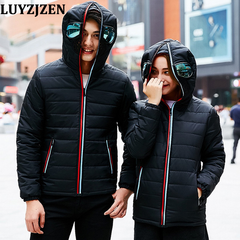 Parka Men With Glasses Parkas Hombre Invierno 2018 New Fashion Padded Parka Cotton Coat Winter Jacket Waterproof High Quality A0