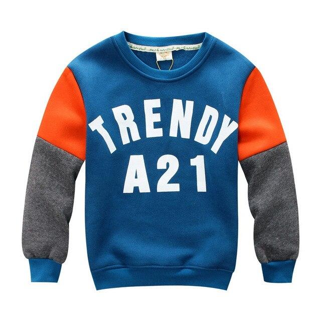 Kids 2017 New Children Fashion Hoodies Boys Warm Add fleece upset Sweatshirts hoodies Kids Fashion Top Clothes