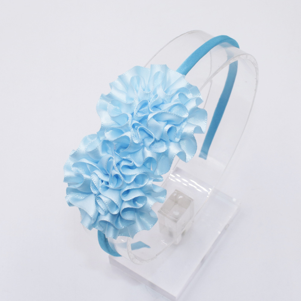 2018 Sweet Colors Flowers Hairband For Girl Cute Silk Floral Hair
