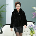 2017 Real fur coat For Women Winter mother clothing female fox fur Collar Real rex rabbit hair fur Jackets plus size 5XL