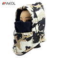 Vancol Outdoor Motorcycle Winter Hat FleeceBeanie Windproof Waterproof Thicken Warm 2016 Winter Camouflage Face Mask Balaclava