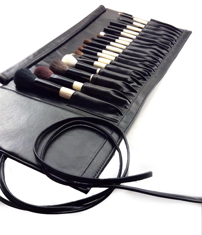 BB 18Pcs Makeup Brushes Set Classic Beige Wood Natural Animal Goat Hair Professional Full Make up Brush Set with Bag