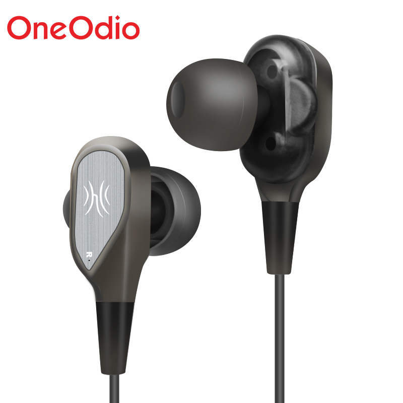 Oneodio A08 Earphones Dual Driver With Mic 3.5mm Jack Gaming Headset In Ear Hifi Sports Fone de Ouvido For PC Phones Freeship