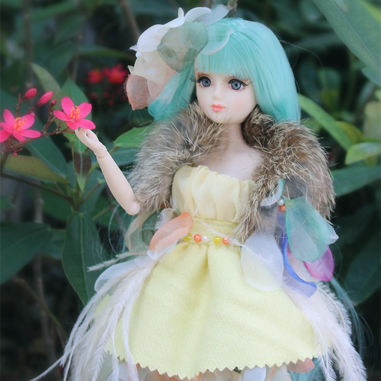 ICY Free shipping BLYTH bjd neo Fortune days fashoin doll Xiaojing JOINT body green hair dress box shoes stand toy gift цена и фото