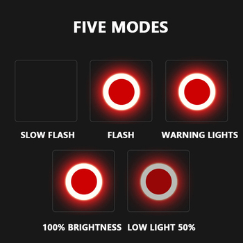 Bike Tail Light USB Rechargeable With 5 lighting Modes- High Intensity LED Light Bicycle Safety Lamp Fit on Helmets 9