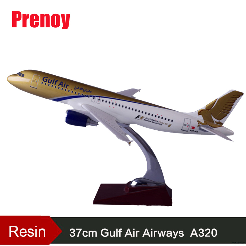 37cm Resin Gulf Air Aircraft Model A320 Airplane Airbus Model International Aviation Gulf Airlines Airways A320 Plane Model Toys pre sale phoenix 11228 tibet airlines b 1682 1 400 a320 w commercial jetliners plane model hobby