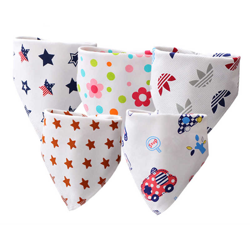 Cotton Baby Bibs Bandana Baberos Bebe Girls Boys Bib Baby Feeding Smock Double-layer Buckle Eating Burp Cloths Baby Things
