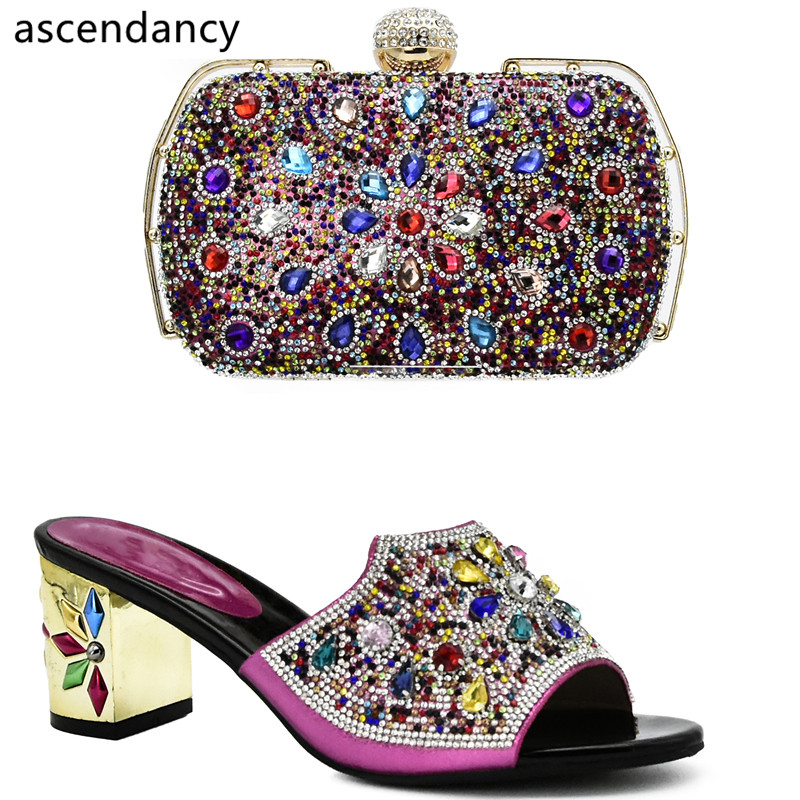 Aliexpress.com : Buy Fuchsia Color Italian Shoes and Bags ...