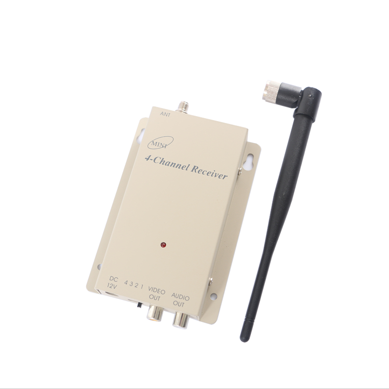 1.2G Wireless video and audio receiver wireless camera AV receiver 1200mhz audio video receiver for FPV receiver wireless video fpv rctransmitter receiver 5 8g 200mw 23dbm 8 channels for rc drone qav250 cctv camera video camera toy parts
