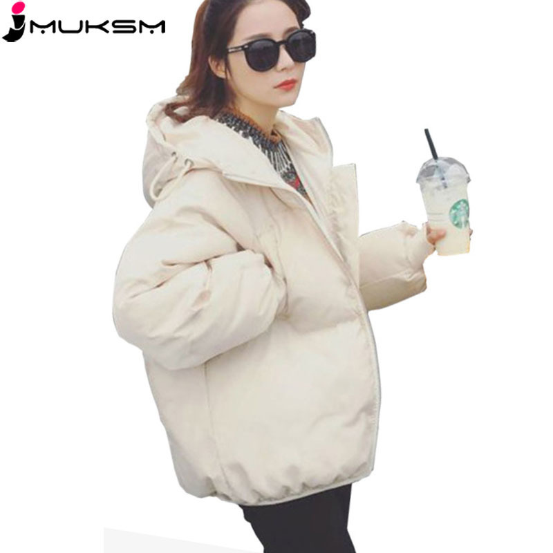 Korean Style 2018 New Woman Short JacketS Thick Clothes Cotton-padded   Parkas   Jacket Casual Loose Plus Size Winter Outwear QJ005