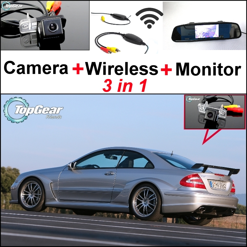 Special WiFi Camera + Wireless Receiver + Mirror Screen 3 in 1 Parking System For Mercedes Benz CLK MB W209 C209 A209 2002~2009 special wifi camera wireless receiver mirror monitor backup parking system for mercedes benz glk class mb x204 2008 2015