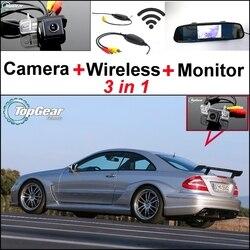 Specjalna kamera WiFi + bezprzewodowy odbiornik + lustro ekran 3 w 1 System parkowania dla Mercedes Benz CLK MB W209 C209 a209 2002 ~ 2009