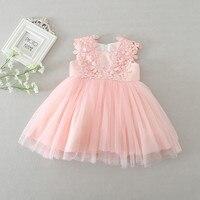 hot baby dresses girl pink lace flower baptism dress birthday party baby girl clothes vestido infantil menina 3 24M