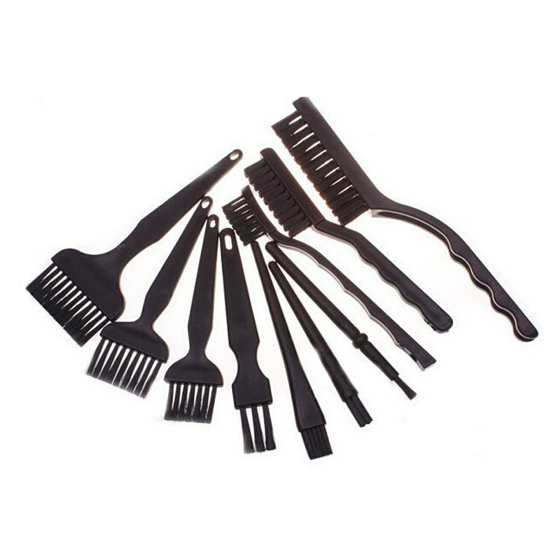 Black Non Slip Handle PCB Rework ESD Anti Static Dust Brush Industrial Electrostatic  For BGA SMT  Board  Repair