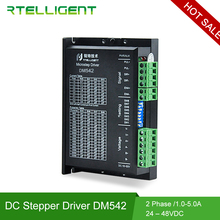цены на Rtelligent Factory Outlet DM542 Nema 23 Stepper Motor Driver CNC Kit 5.0A 24-50VDC DC Motor Driver for NEMA 17 23 Stepper Motor  в интернет-магазинах