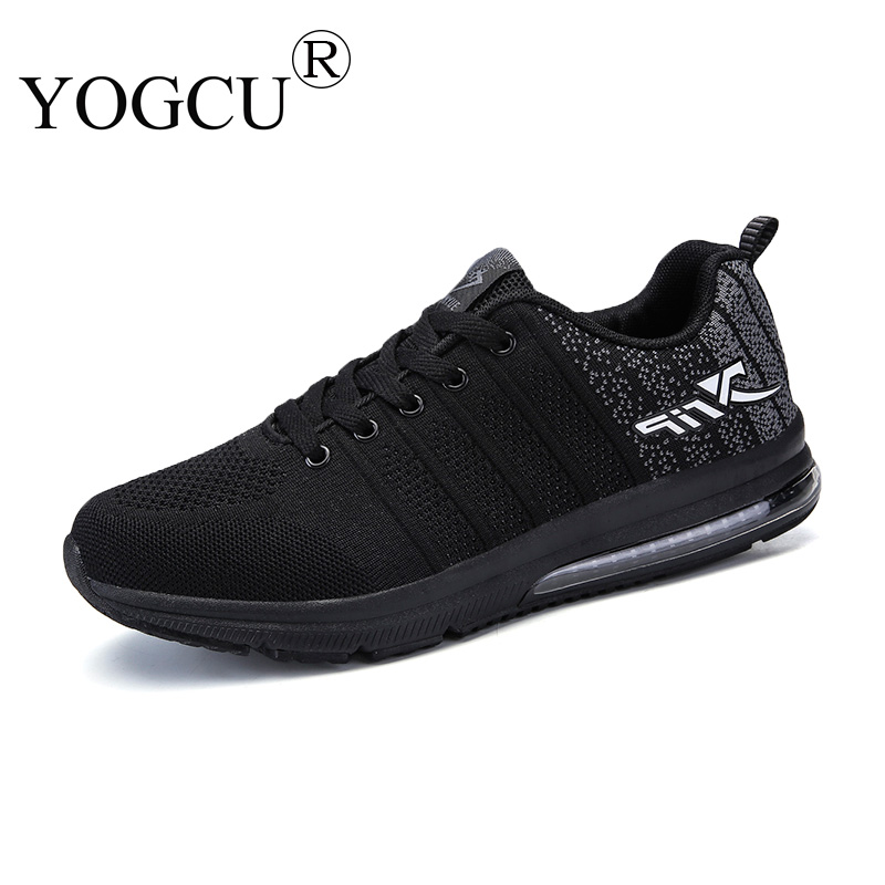 Mens sports shoes fly woven breathable cushion shock absorber wear-resistant travel Superstar running shoes