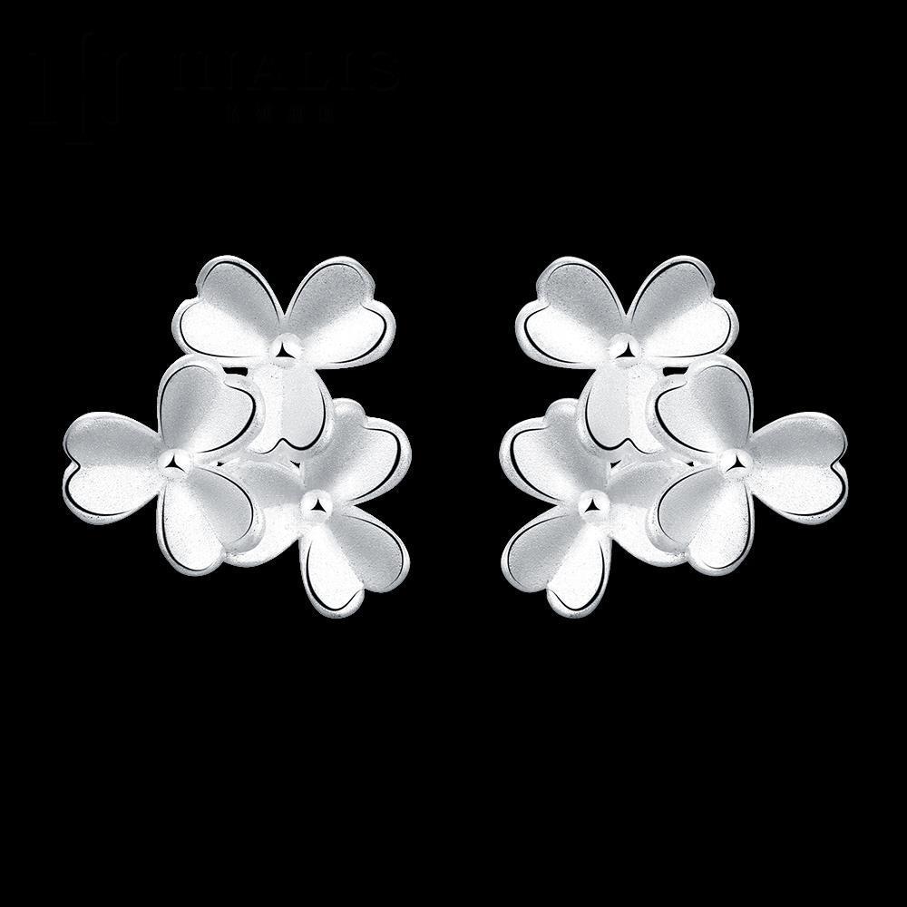 07e0689da9e6 Top popular Fashion ZIRCON pendiente Niñas 925 joyería de plata mujer  earings Accesorios boda Pendientes de broche e653