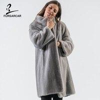 Мех Sarcar 2019 новый натуральный серый норковый мех Тренч Женское пальто женские зимние куртки для женщин s полная Пелт меховая верхняя одежда