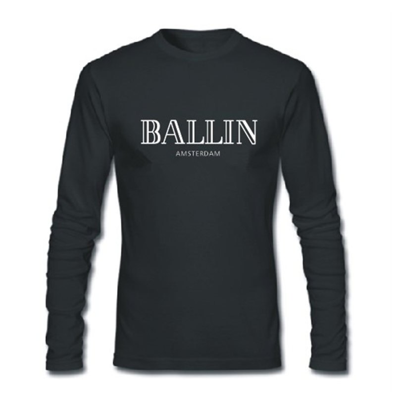 Summer T Shirts Ballin Amsterdam Print Fashion T shirt 100 cotton loose O Neck men and