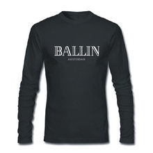 Summer T-Shirts Ballin Amsterdam Print Fashion T-shirt 100% cotton loose O-Neck men and women T Shirt long sleeve Tee Shirt