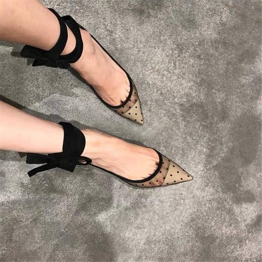 Talons 2019 Dames Pompes En Lacets Dentelle Mince Apricot Chaussures Talon Nouveau Respirant Faible À Sexy Femmes Pointu Mode Classique Bout De 50HBqnwY