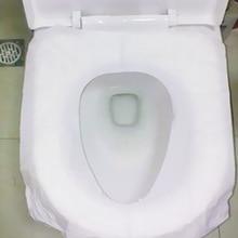 10Pcs/bag 100% waterproof toilet paper pad Travel Camping disposable seat cover mat bathroom accessories set